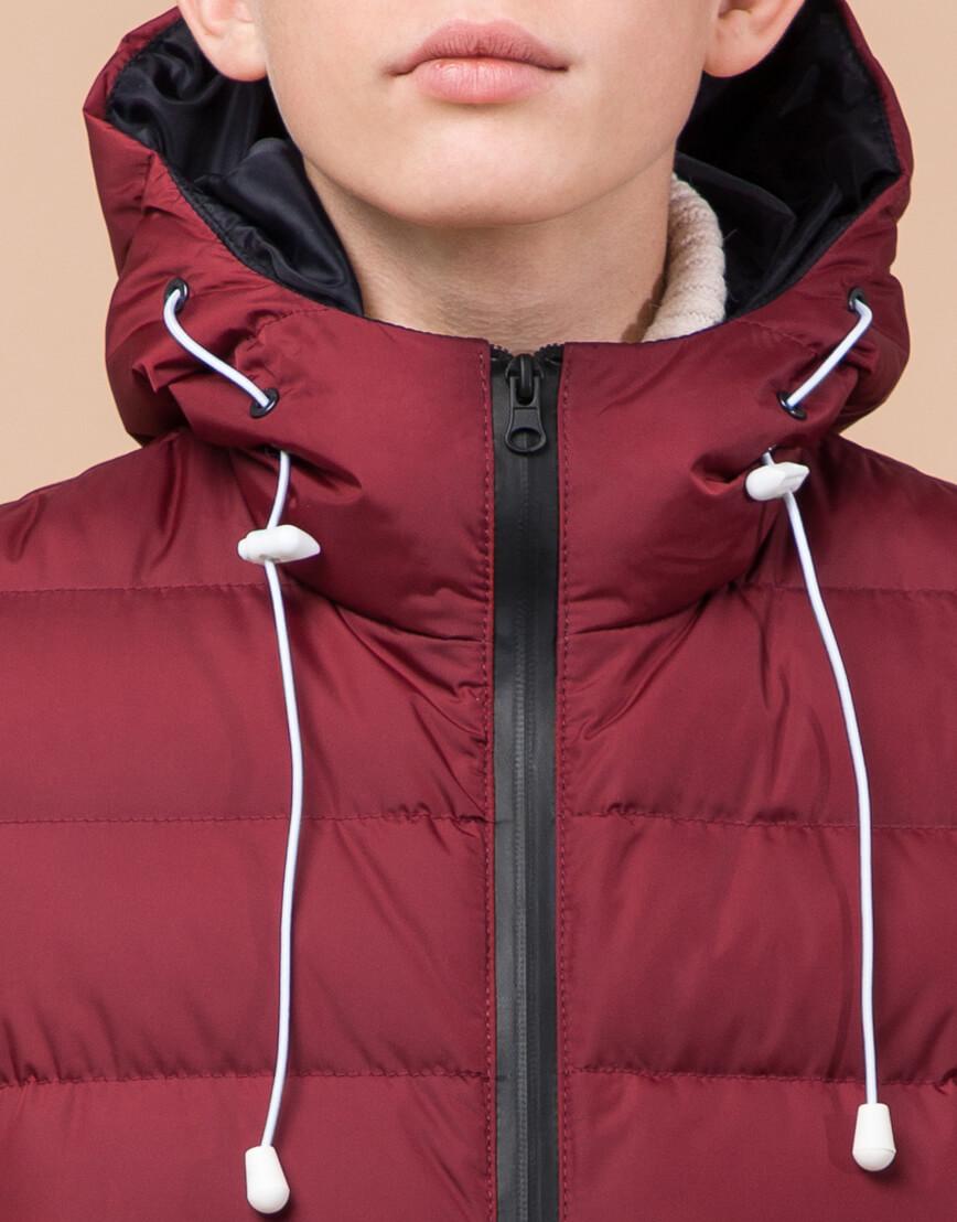 Бордовая детская куртка качественная модель 65028 фото 5