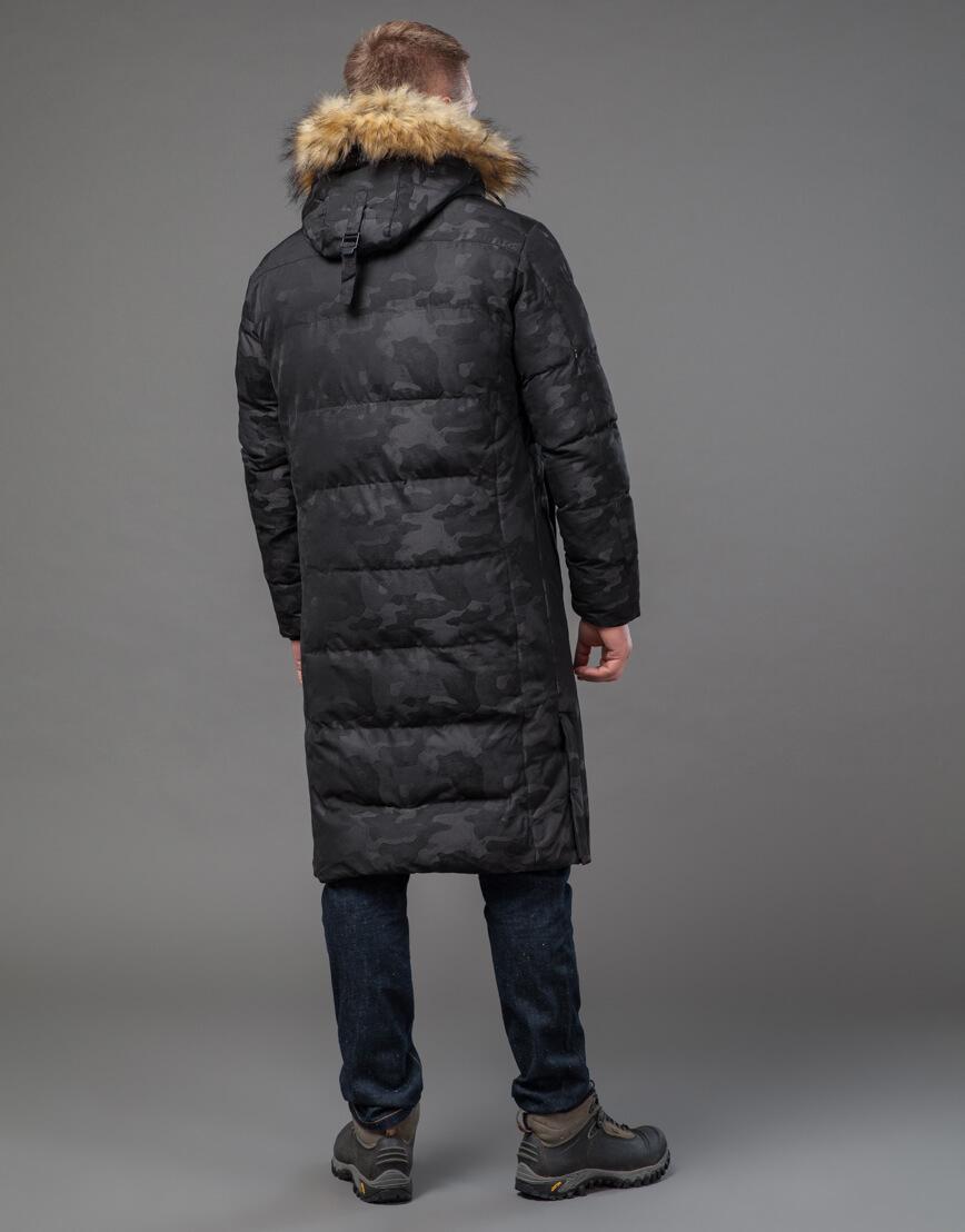 Дизайнерская черная куртка мужская модель 73400 фото 4