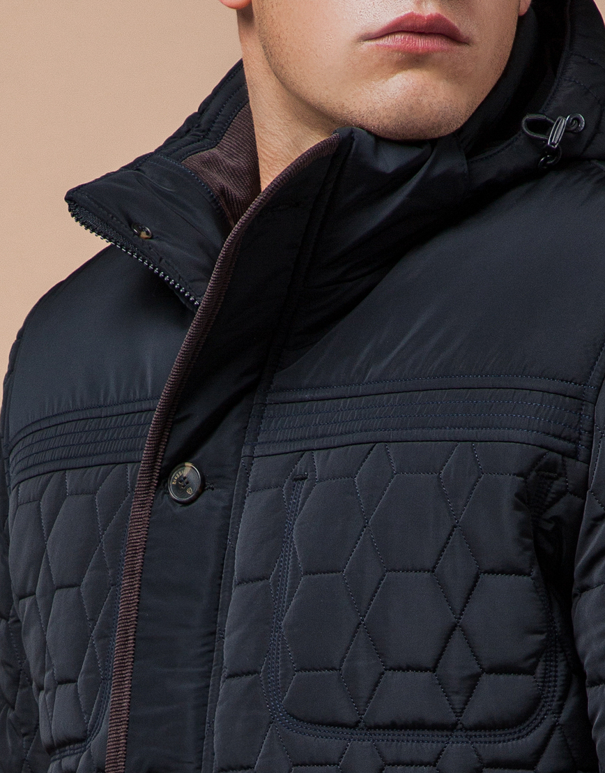 Куртка темно-синяя качественного пошива модель 3570  фото 6