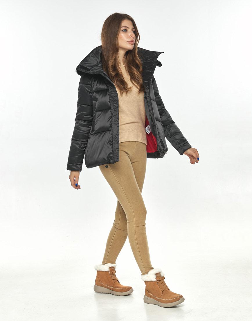 Чёрная оригинальная куртка большого размера женская Ajento для осени 23952 фото 2