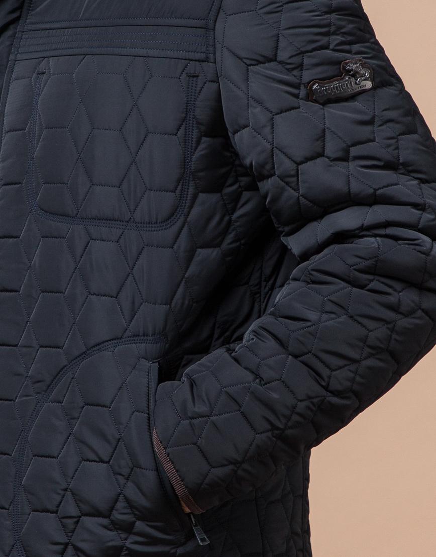 Куртка темно-синяя качественного пошива модель 3570  фото 5
