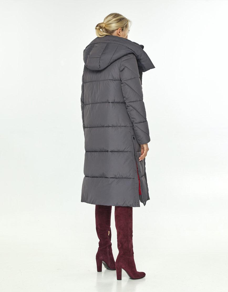 Серая куртка зимняя с капюшоном женская Kiro Tokao 60024 фото 3