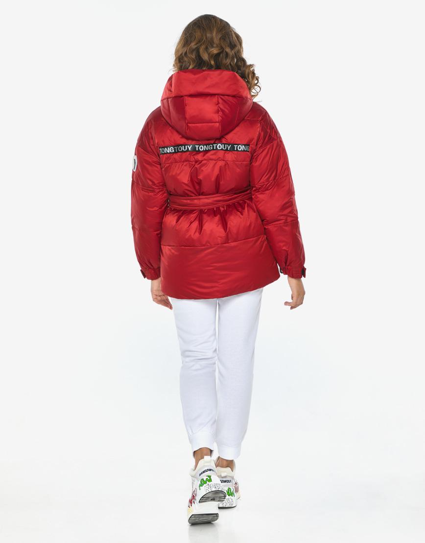 Пуховик куртка Youth молодежная рубиновая комфортная модель 21045 фото 6