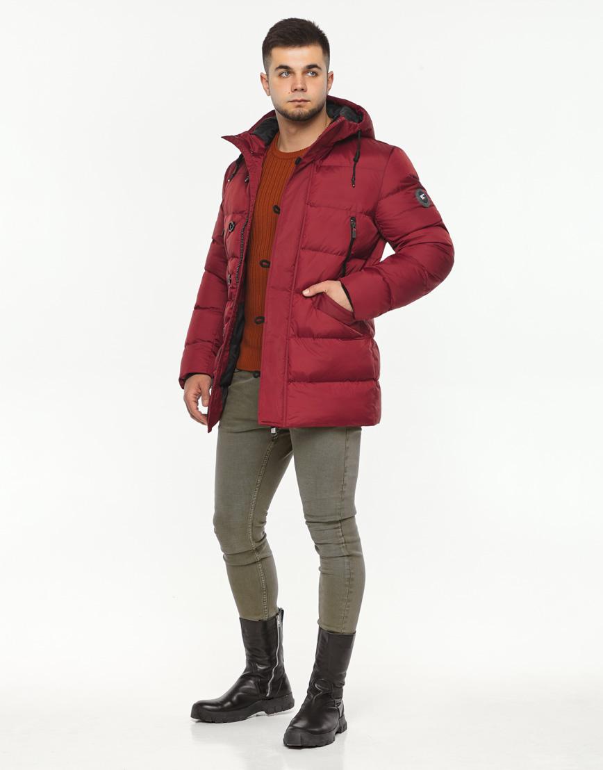 Фирменная красная куртка мужская модель 37485 фото 1