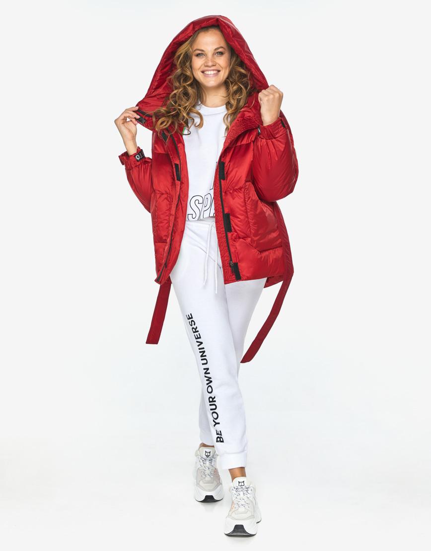 Пуховик куртка Youth молодежная рубиновая комфортная модель 21045 фото 3