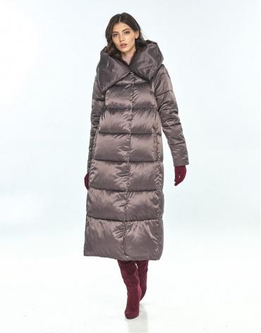 Брендовая куртка большого размера Vivacana капучиновая женская 9150/21 фото 1
