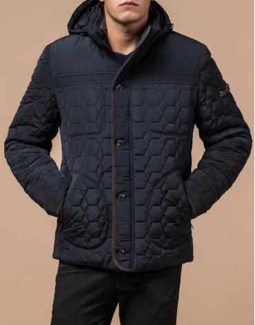 Куртка темно-синяя качественного пошива модель 3570  фото 1