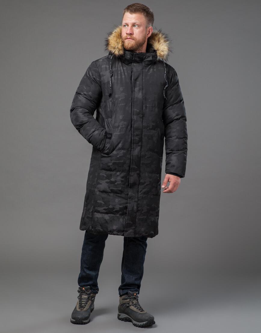 Дизайнерская черная куртка мужская модель 73400 фото 2