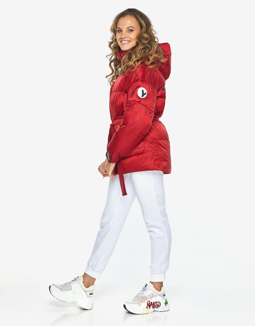 Пуховик куртка Youth молодежная рубиновая комфортная модель 21045 фото 5