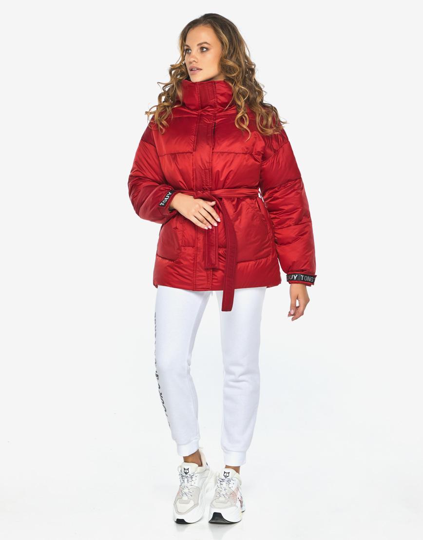 Пуховик куртка Youth молодежная рубиновая комфортная модель 21045 фото 4