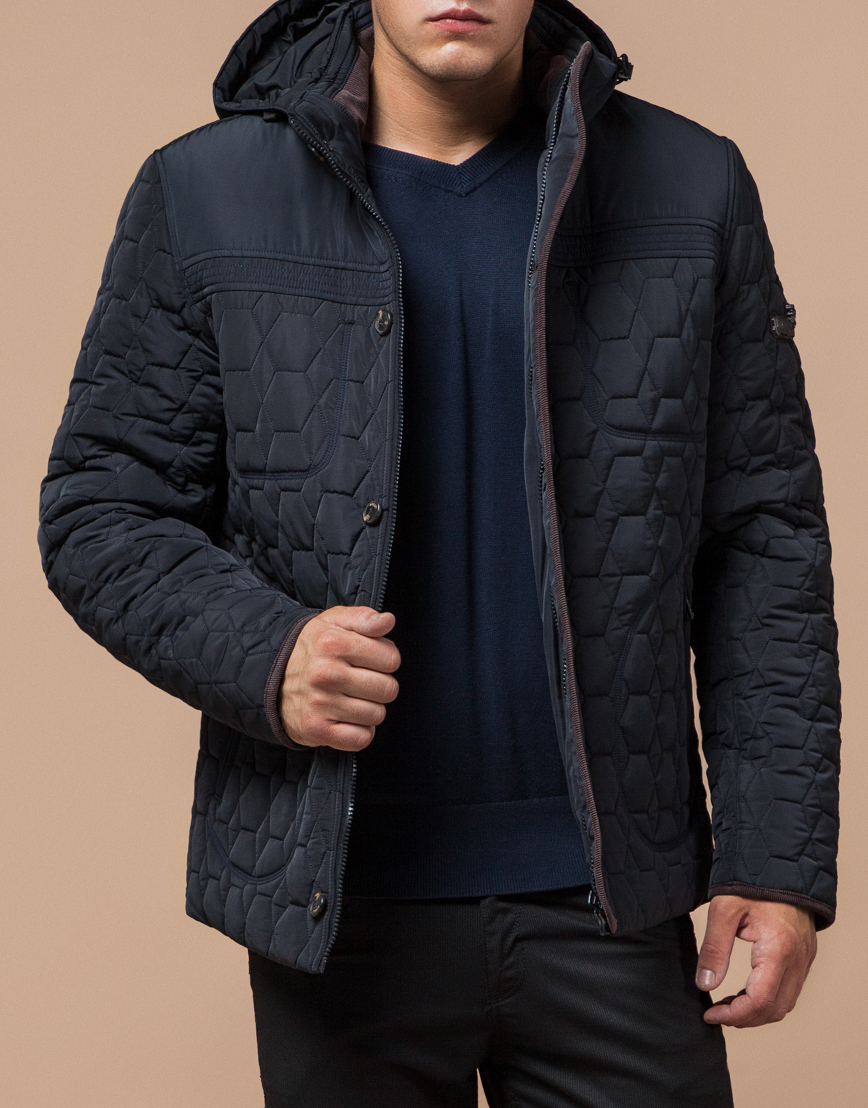 Куртка темно-синяя качественного пошива модель 3570  фото 2