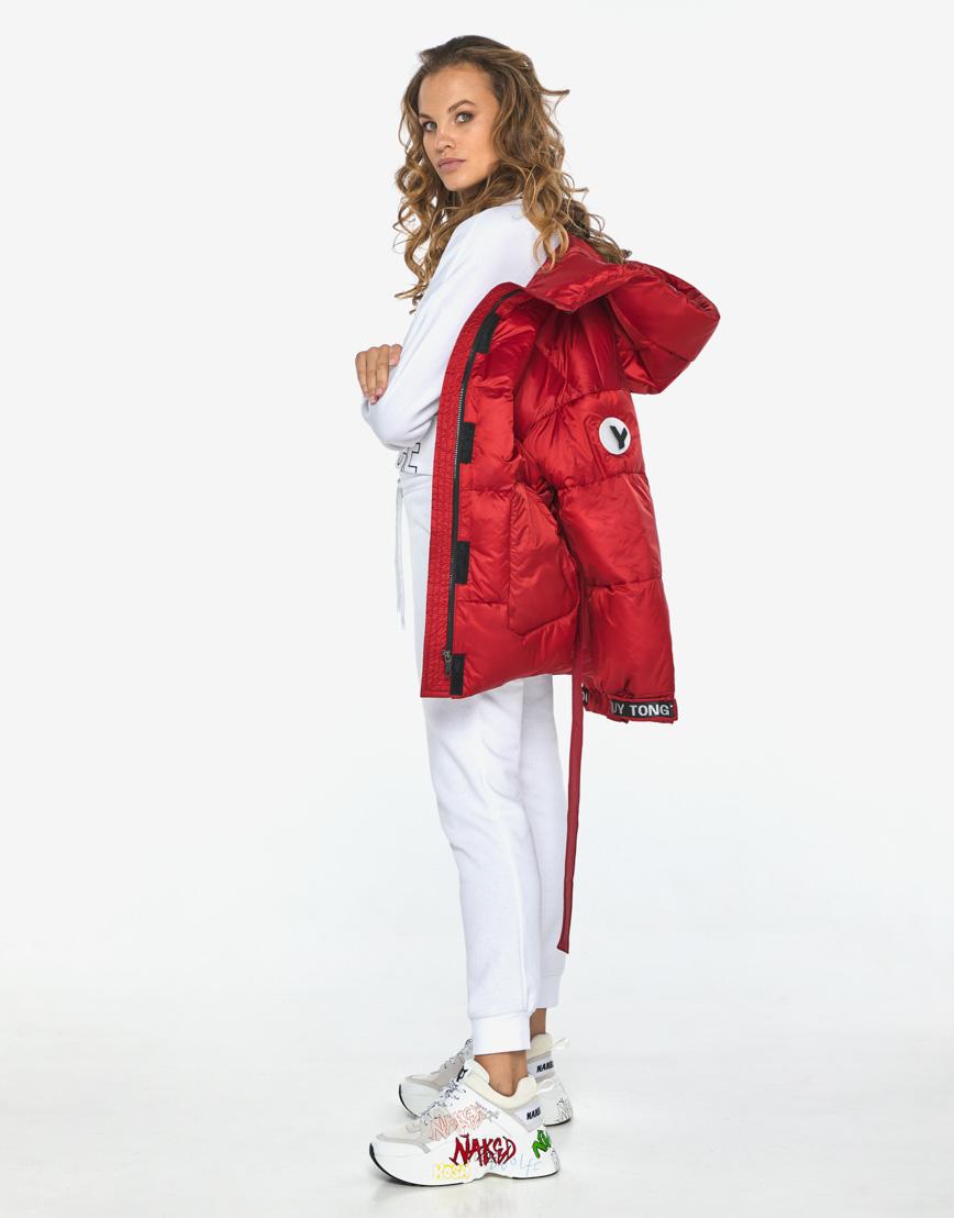 Пуховик куртка Youth молодежная рубиновая комфортная модель 21045 фото 2