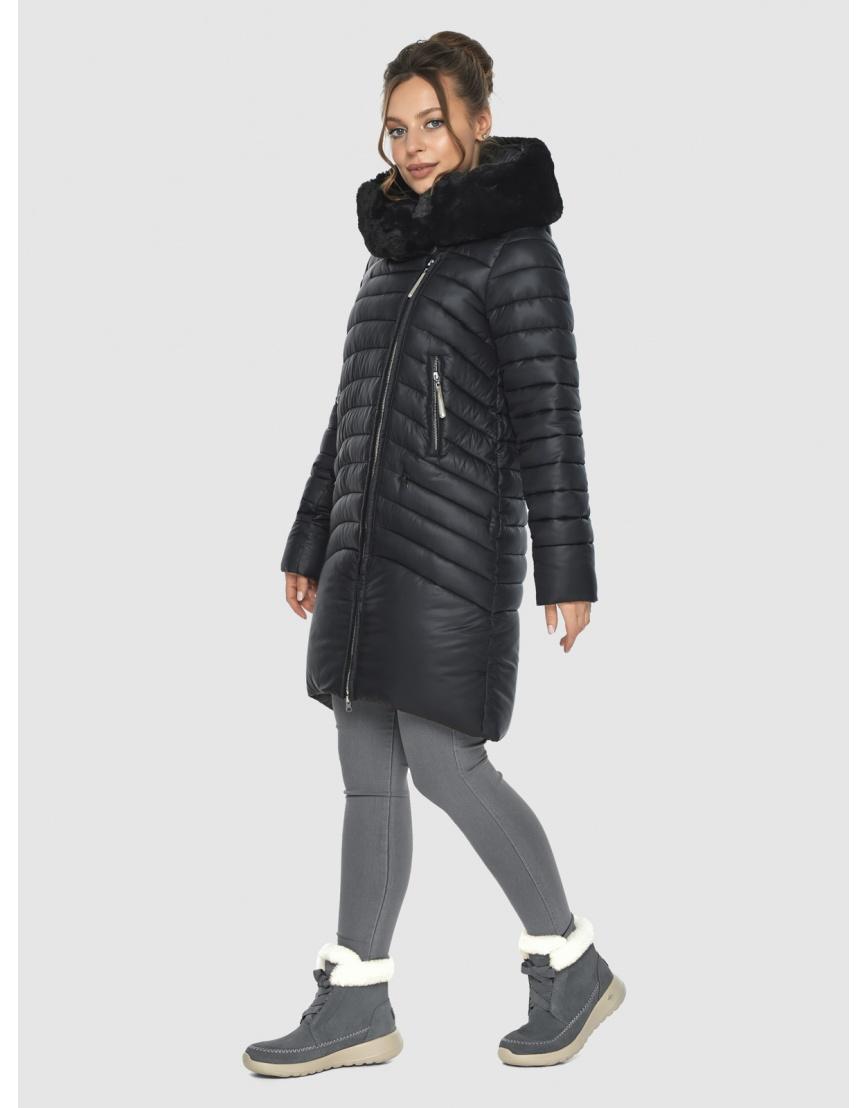 Удлинённая куртка Ajento женская чёрная 24138 фото 1