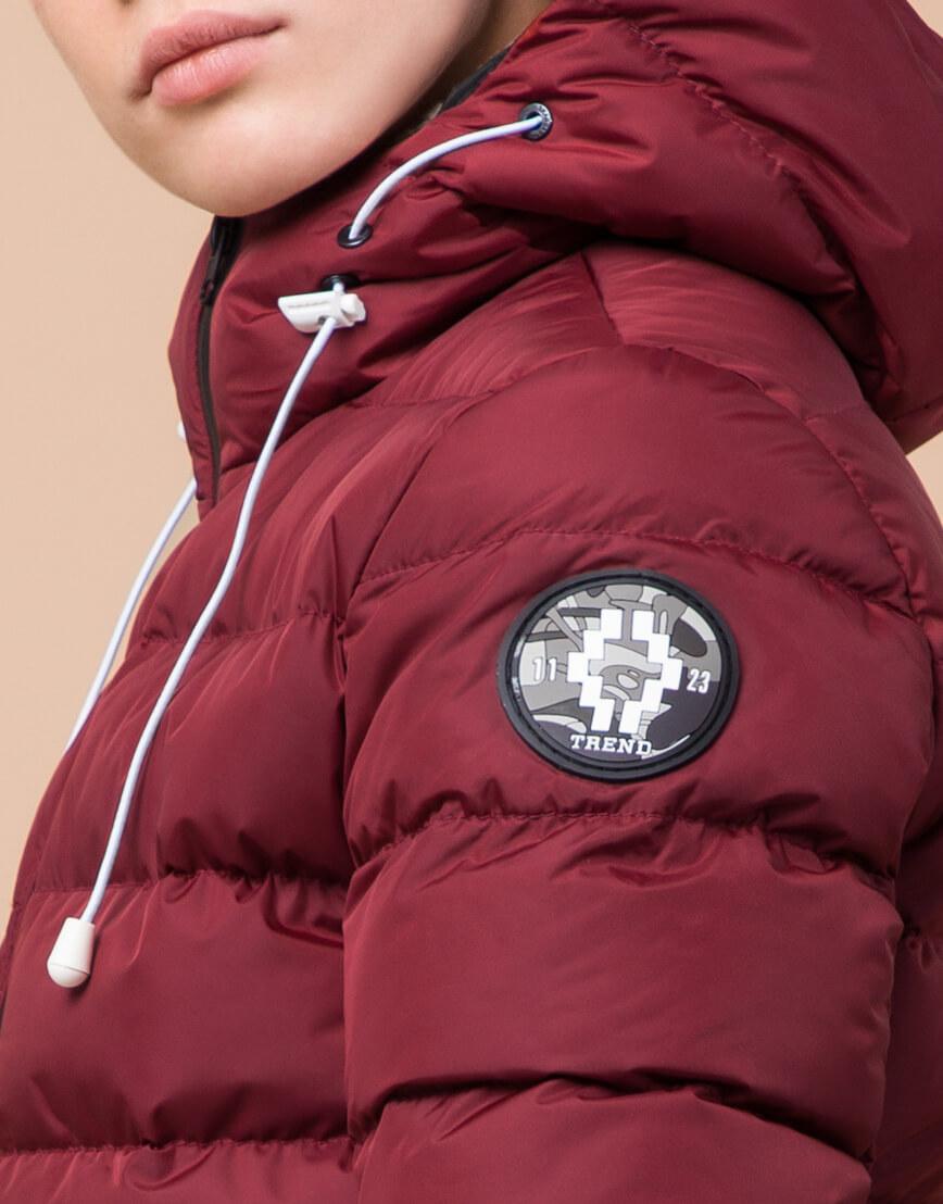Бордовая детская куртка качественная модель 65028 фото 7