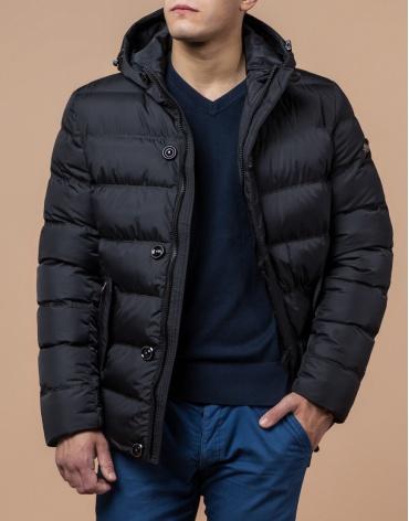 Куртка графитового цвета стильного дизайна модель 30380