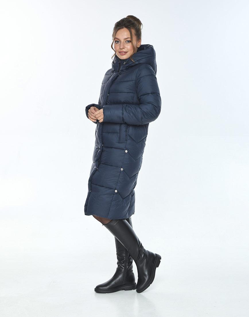 Комфортная куртка женская Ajento синего цвета 22975 фото 2
