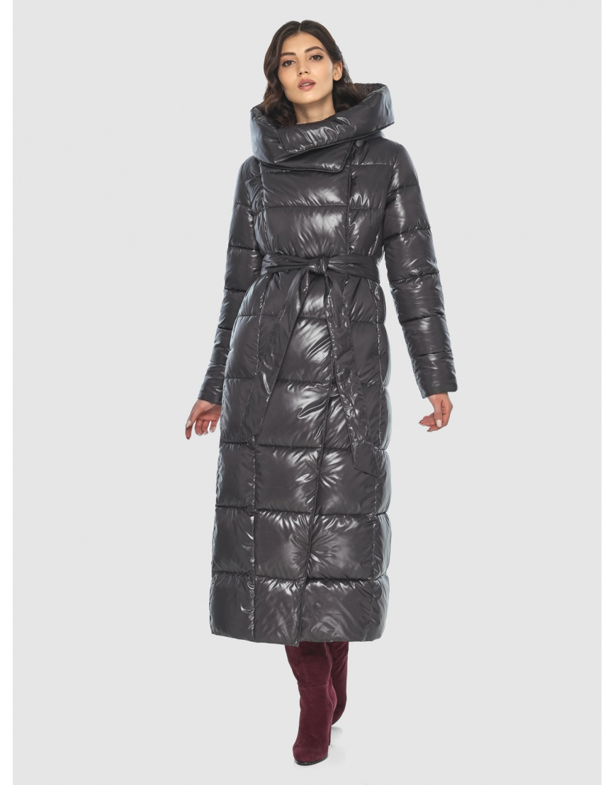 Серая женская люксовая куртка Vivacana 8706/21 фото 3