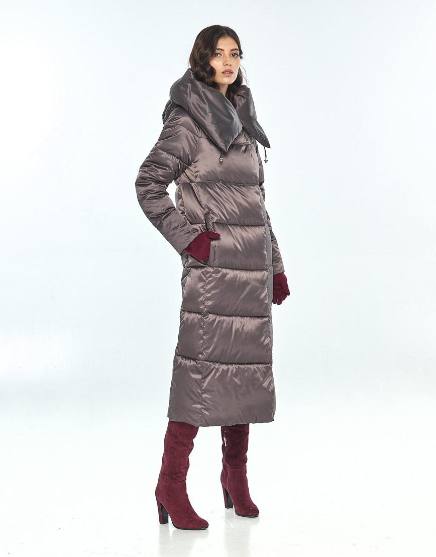Брендовая куртка большого размера Vivacana капучиновая женская 9150/21 фото 2