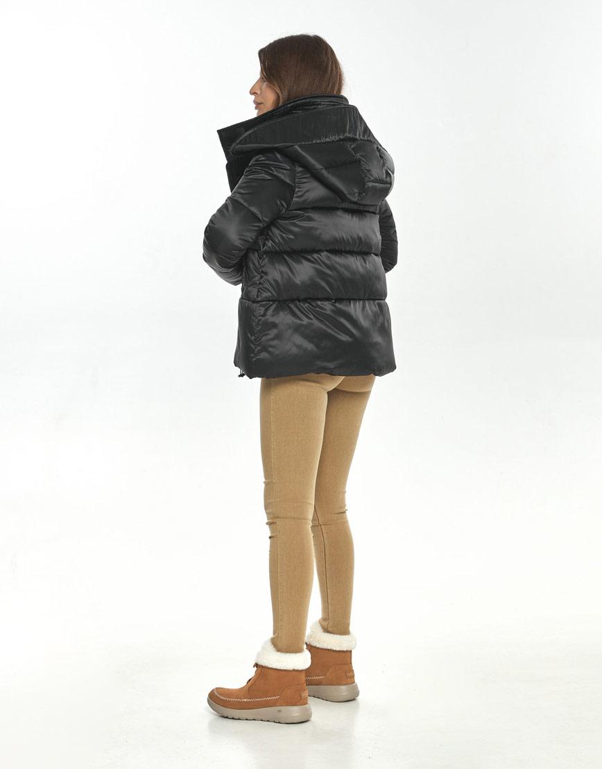 Чёрная оригинальная куртка большого размера женская Ajento для осени 23952 фото 3