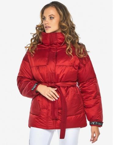 Пуховик куртка Youth молодежная рубиновая комфортная модель 21045 фото 1