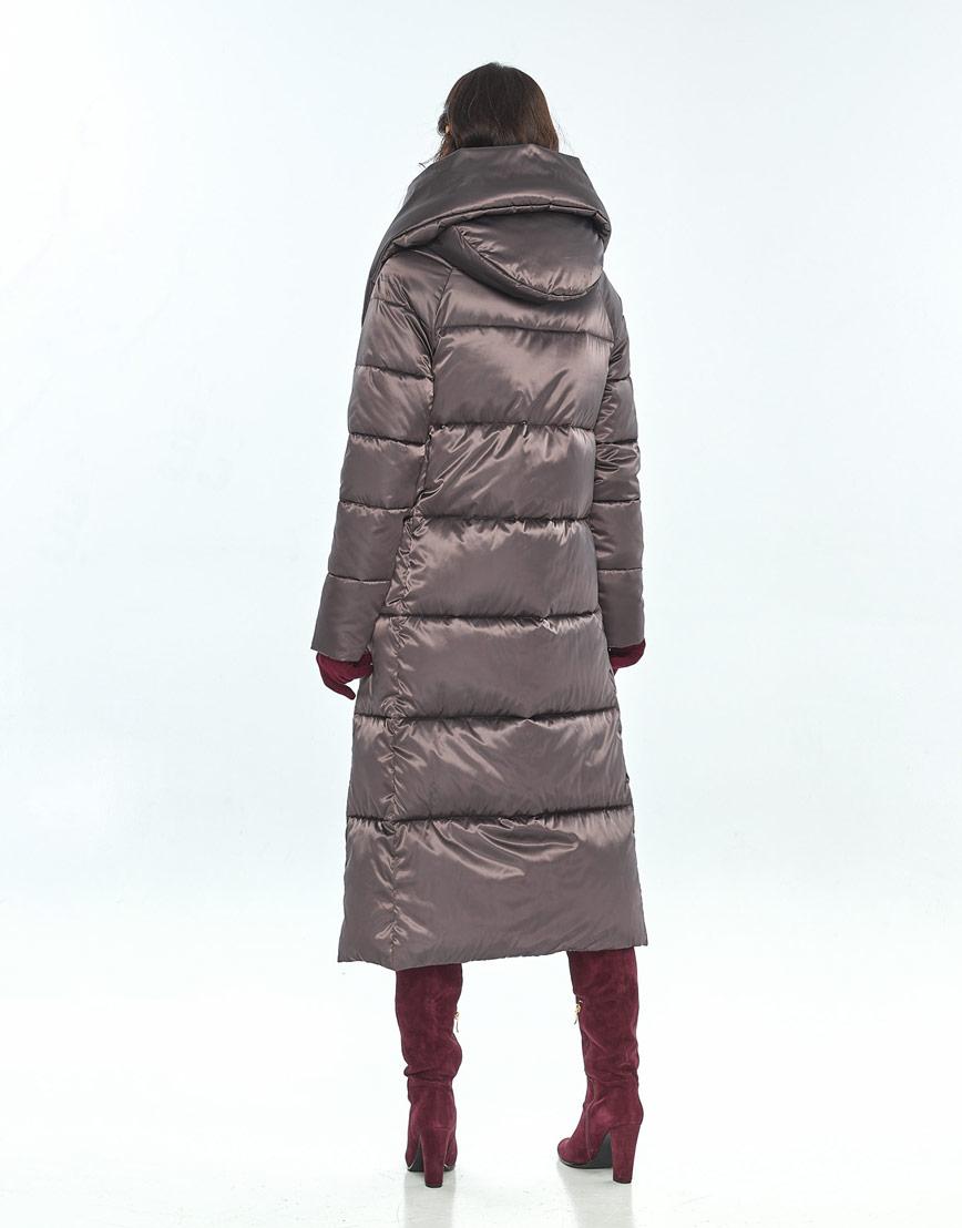 Брендовая куртка большого размера Vivacana капучиновая женская 9150/21 фото 3