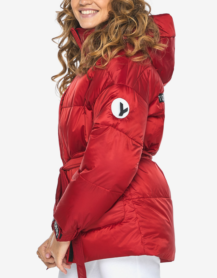Пуховик куртка Youth молодежная рубиновая комфортная модель 21045 фото 7