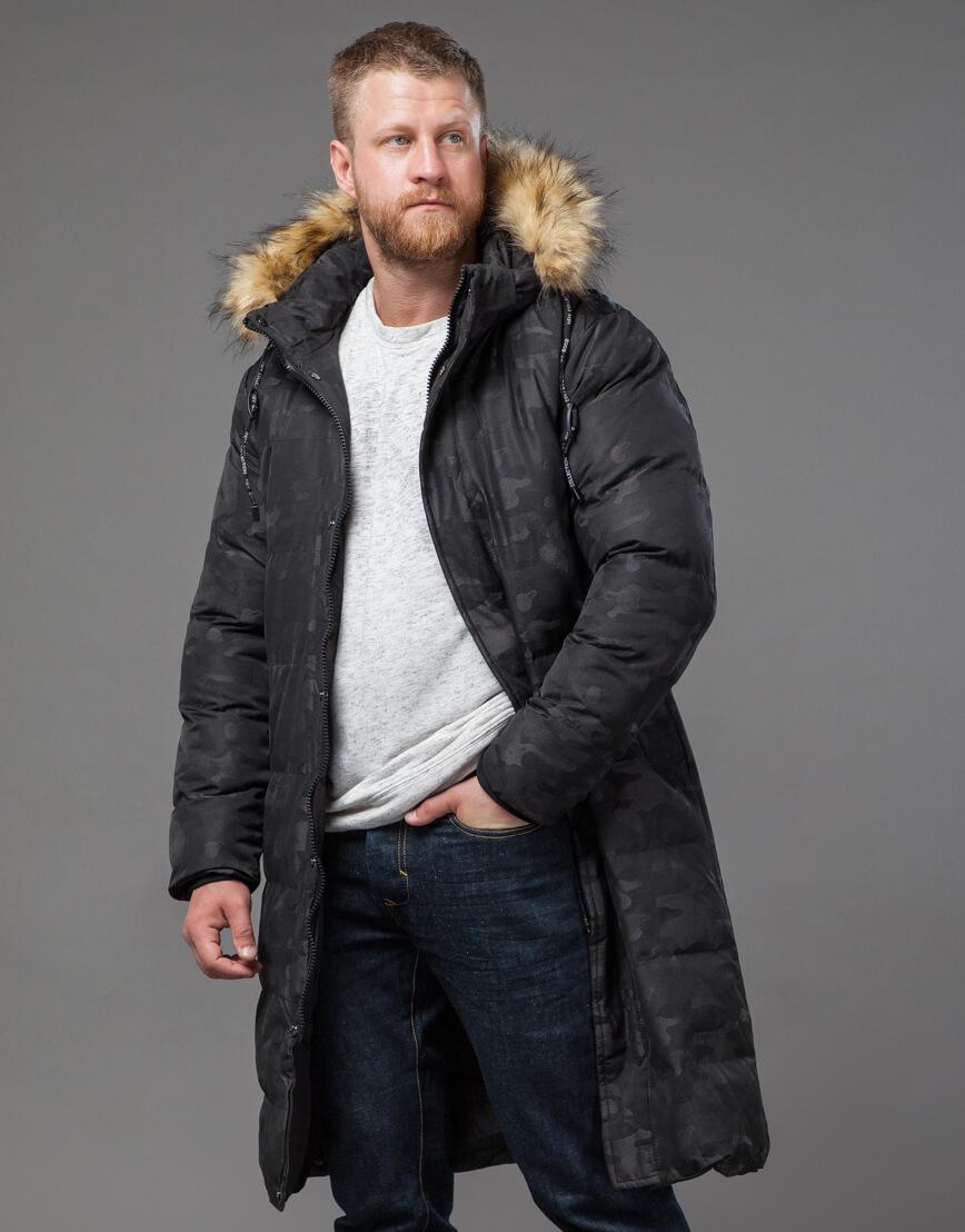 Дизайнерская черная куртка мужская модель 73400 фото 1