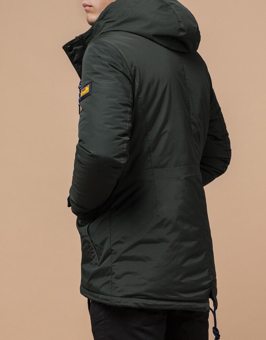 Зимняя мужская парка цвет хаки-темно-серый модель 1533 оптом фото 3