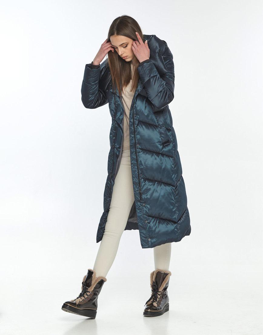 Зимняя куртка подростковая на девушку зелёная Wild Club 514-35 фото 2