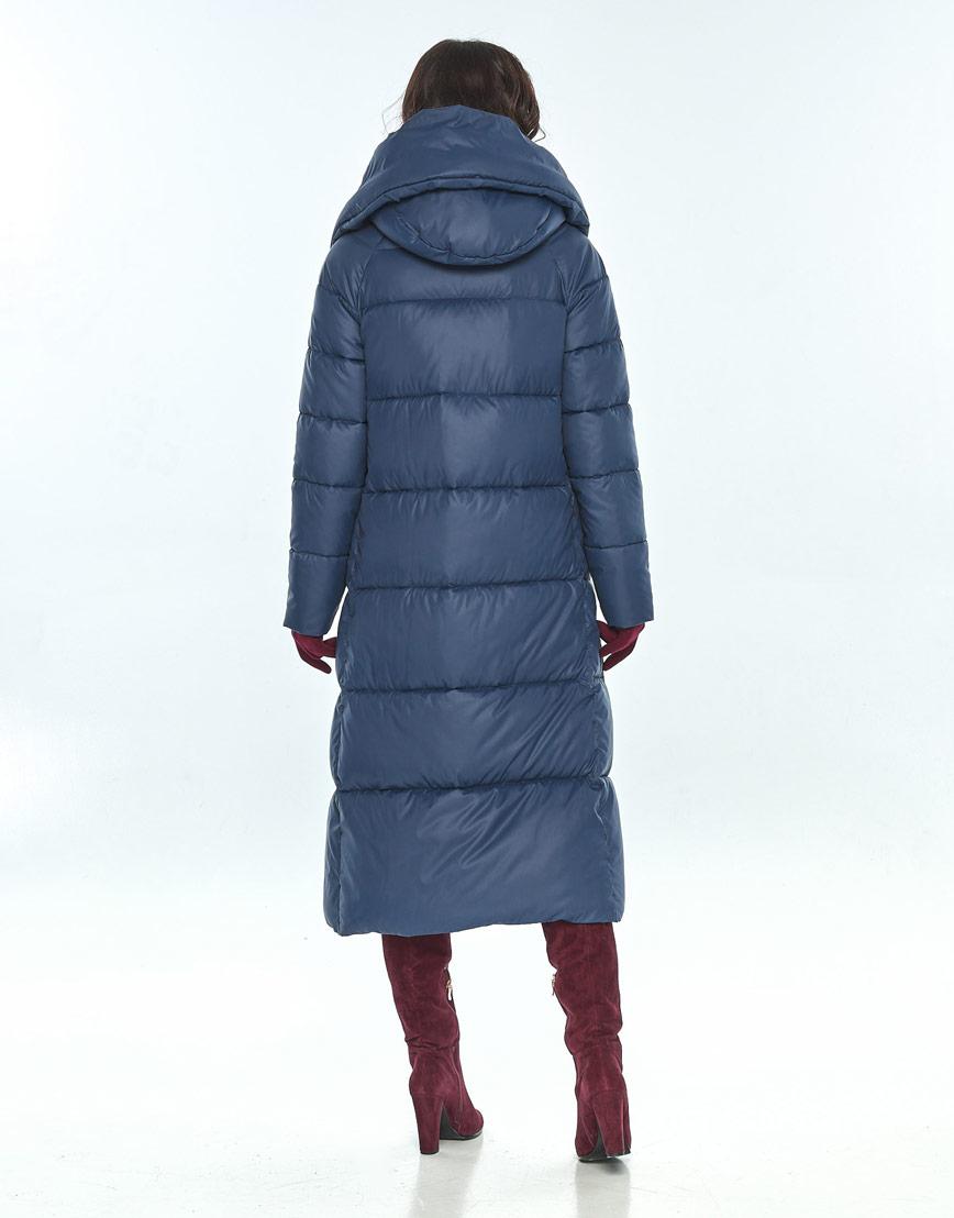 Куртка большого размера синяя зимняя женская Vivacana 9150/21 фото 3