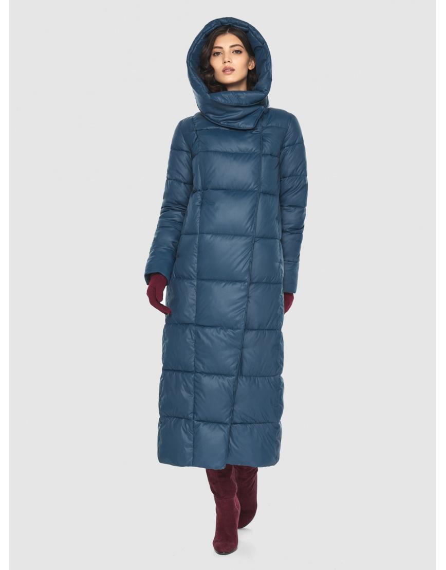 Брендовая женская синяя куртка Vivacana 8706/21 фото 2