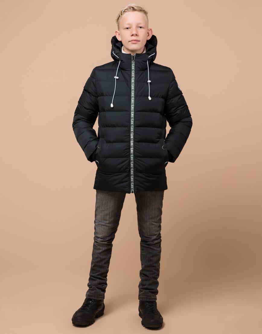 Графитовая куртка детская модная модель 65028 фото 3