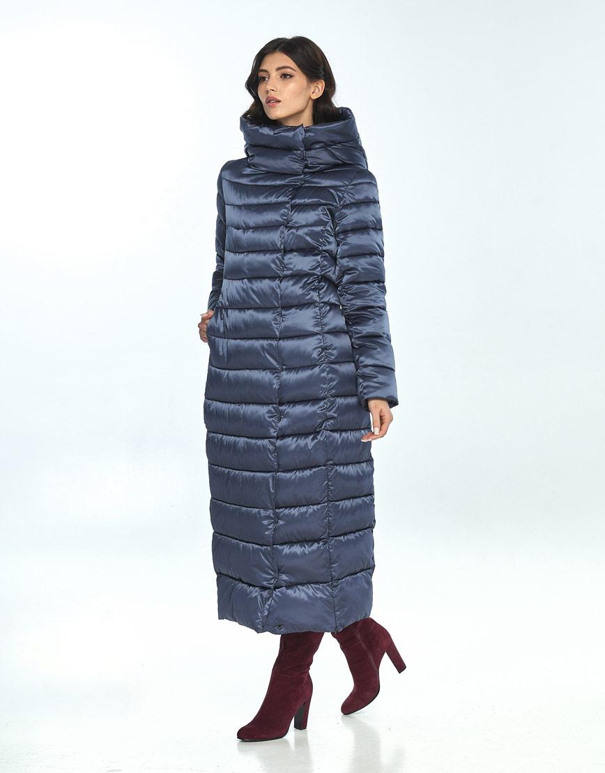 Женская зимняя синяя куртка Vivacana практичная 8320/21 фото 1