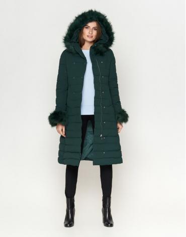 Куртка зеленая женская стильная модель 6612