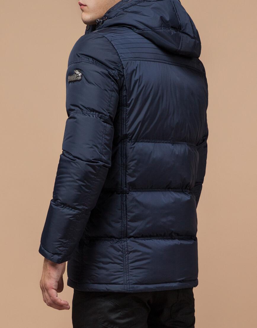 Куртка темно-синяя мужская на зиму модель 2609 оптом