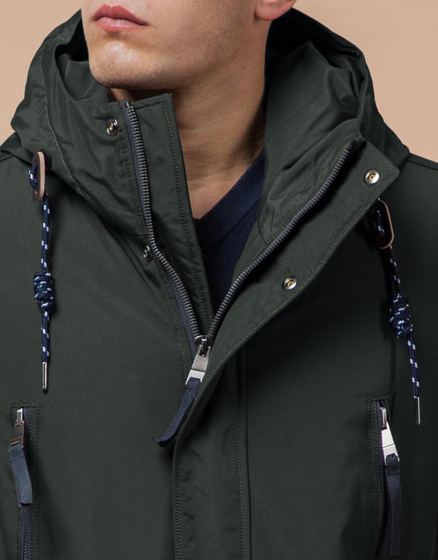 Зимняя мужская парка цвет хаки-темно-серый модель 1533 оптом фото 4