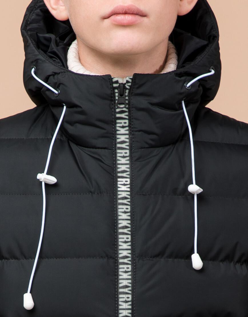 Графитовая куртка детская модная модель 65028 фото 5