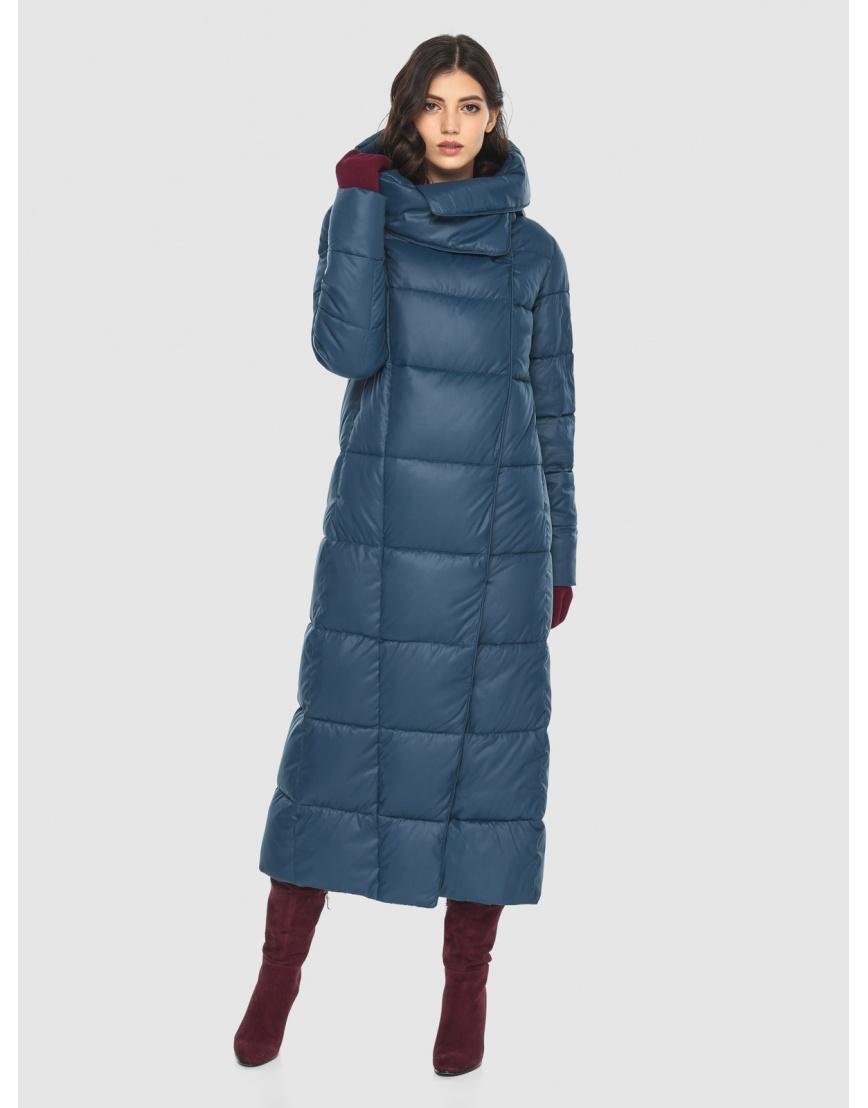 Брендовая женская синяя куртка Vivacana 8706/21 фото 5