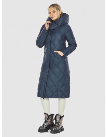Брендовая подростковая зимняя синяя куртка Kiro Tokao 60074 фото 1