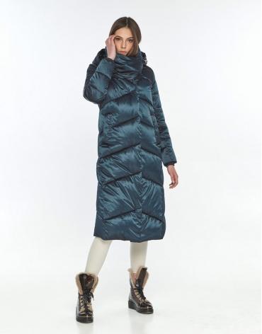 Зимняя куртка подростковая на девушку зелёная Wild Club 514-35 фото 1