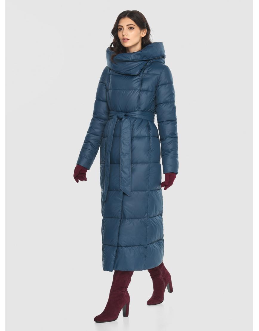 Брендовая женская синяя куртка Vivacana 8706/21 фото 3