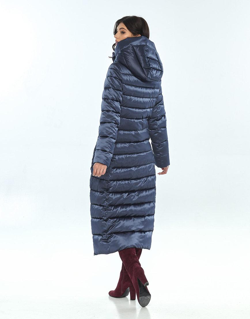 Женская зимняя синяя куртка Vivacana практичная 8320/21 фото 3