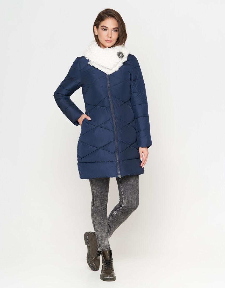 Куртка синяя с прочной фурнитурой женская модель 5266 фото 2