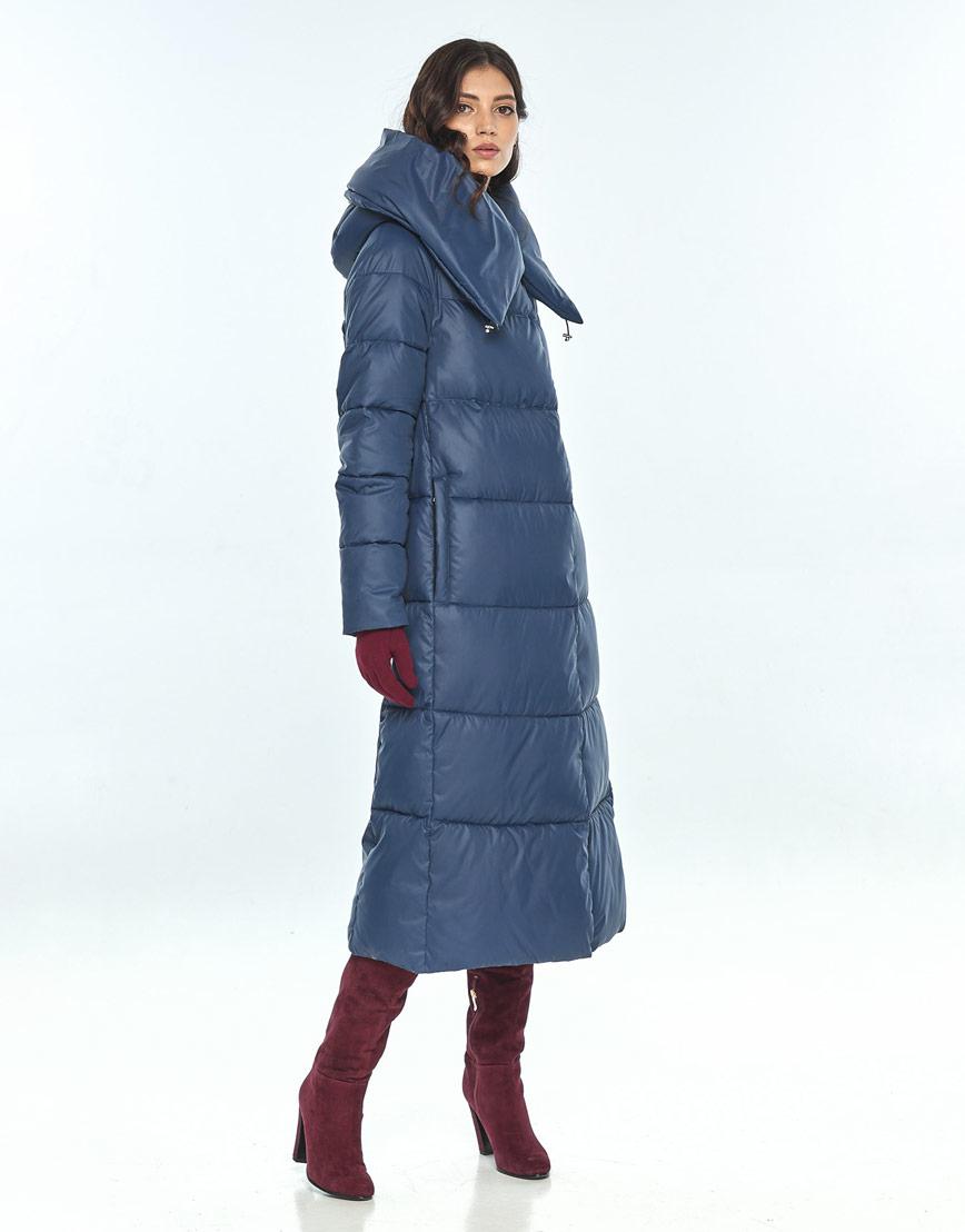 Куртка большого размера синяя зимняя женская Vivacana 9150/21 фото 2