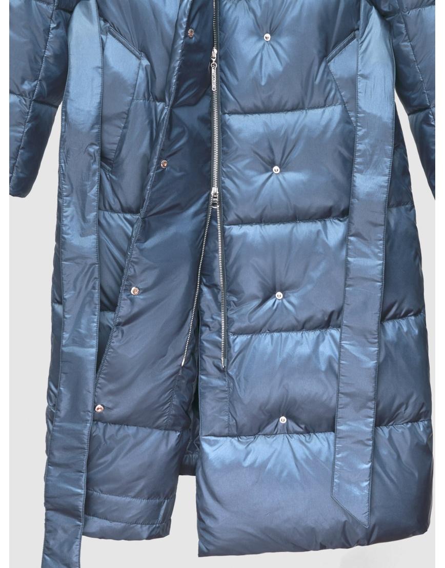 40 (3XS) – последний размер – куртка с капюшоном зимняя синяя женская Braggart 200060 фото 4