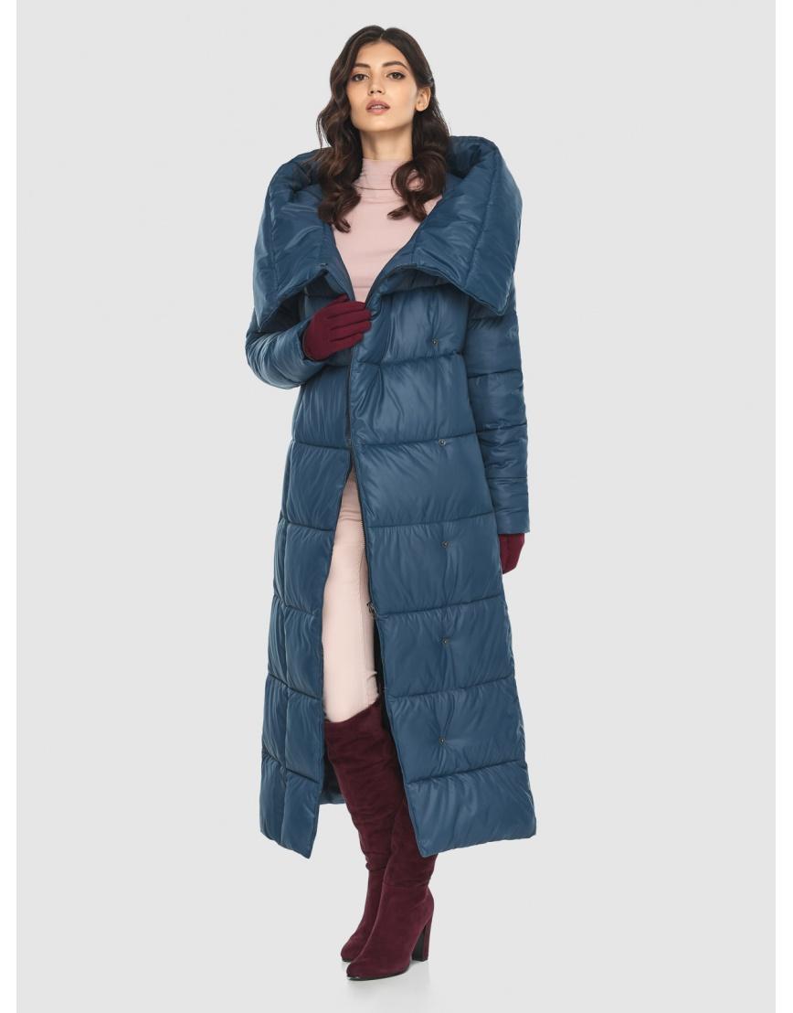 Брендовая женская синяя куртка Vivacana 8706/21 фото 6