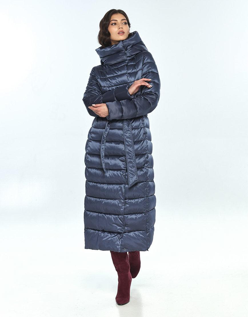 Женская зимняя синяя куртка Vivacana практичная 8320/21 фото 2