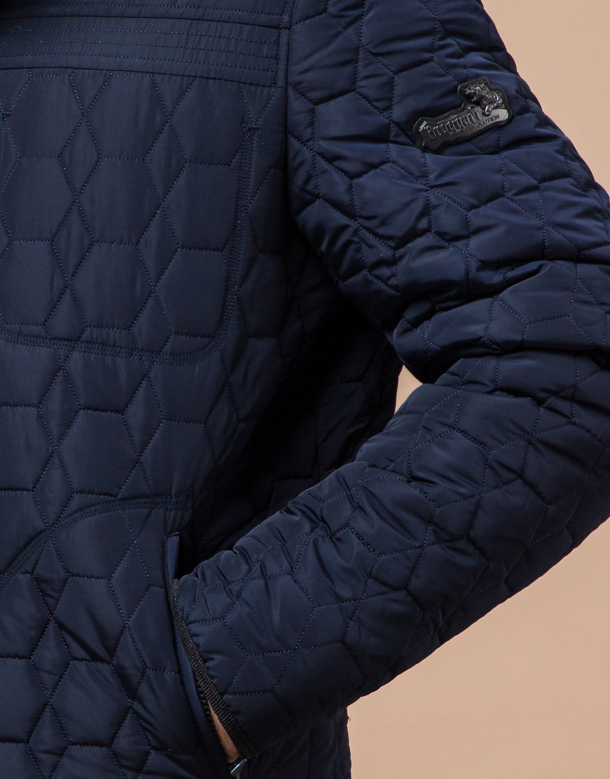 Зимняя стильная синяя куртка модель 3570