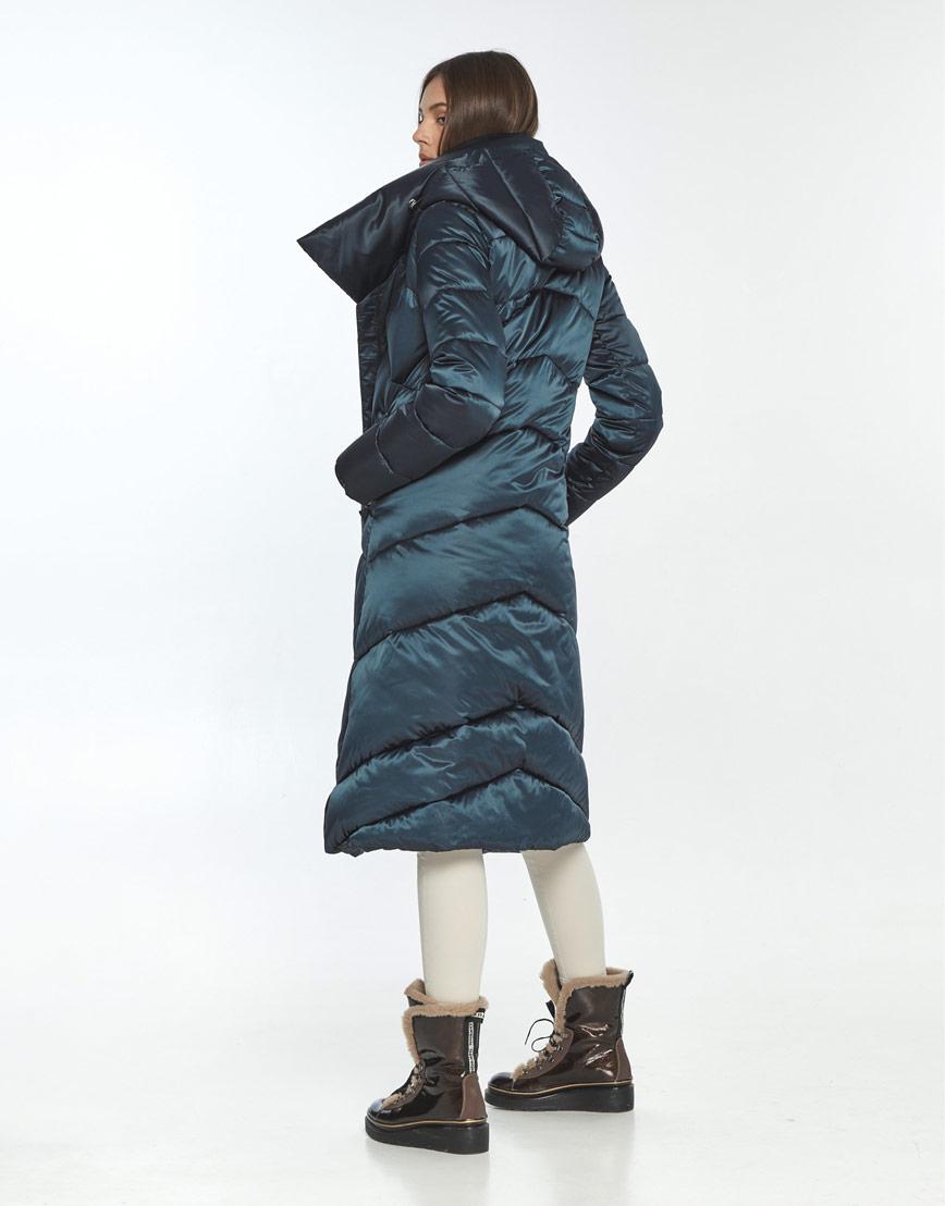 Зимняя куртка подростковая на девушку зелёная Wild Club 514-35 фото 3