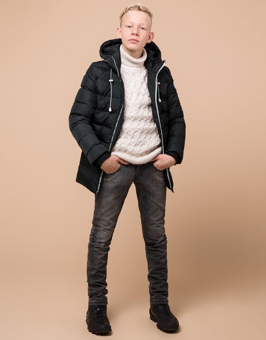 Графитовая куртка детская модная модель 65028 фото 1